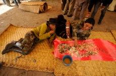 MOROCHOS, Imbabura (23-06-2012).- Victor Pulzara (i) y Juan Cabascango, moradores de la Comunidad Morochos, en el Cantó—n Cotacachi, comen durante la celebraci—ón de la fiesta de San Juan, denominada Inti Raymi, en agradecimiento a la cosecha de maíz. Alfredo Cardenas.