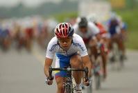 MACHALA, El Oro (07-08-06).- Una vista de los pedalistas durante la XXVII Vuelta a la República de Ciclismo, en la quinta etapa Babahoyo-Machala. Alfredo Cárdenas.