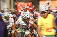 GUARANDA, Bolívar (10-08-06).- XXVII Vuelta a la República de Cliclismo, en la etapa Guaranda - Riobamba Alfredo Cárdenas.