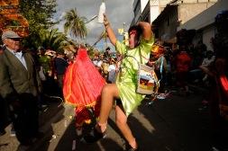 PILLARO, Tungurahua (02-01-2012).- Jorge Luis Tamayo, de 17 a–os, de los cuales baila 13 de Guaricha en la tradicional Diablada de P'llaro, en la Comunidad Guanguibana, en el cant—n P'llaro, en la provincia de Tungurahua. Alfredo Cardenas/ EL UNIVERSO